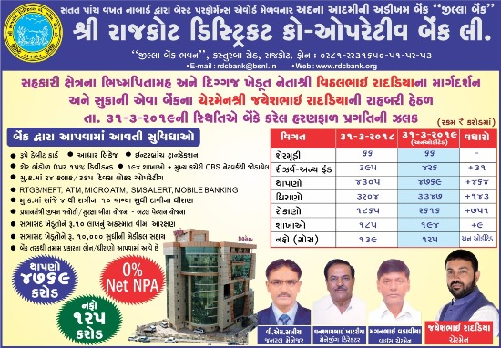 SHRI RAJKOT DISTRICT CO-OPERATIVE BANK LTD